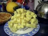 Cheese and pineapple