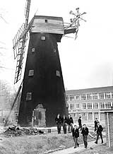 The windmill in John Ruskin High School, Croydon